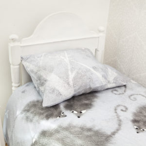Bedding set Mice in blue
