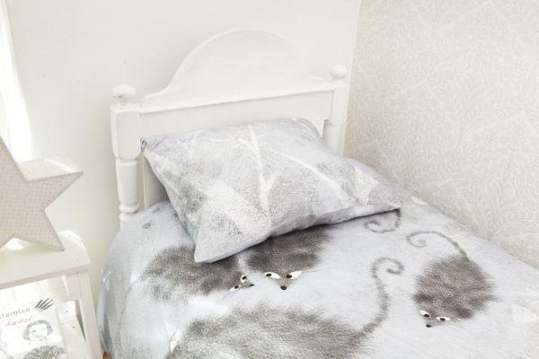 Bedding set Mice in blue
