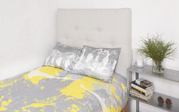 Suur voodipesukomplekt Luiged kollases