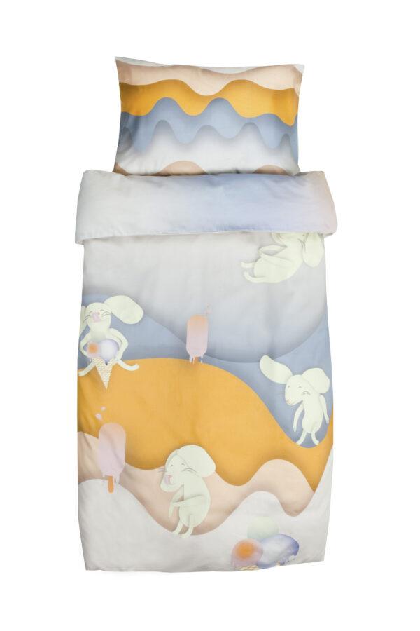 Toddler's bedding set Mice hunting ice cream