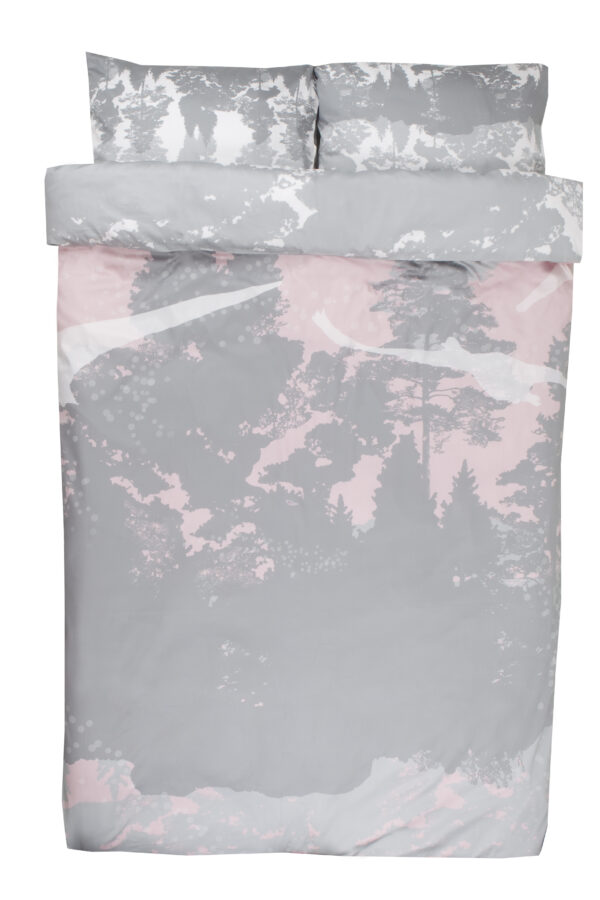 Double bedding set Swans in pink