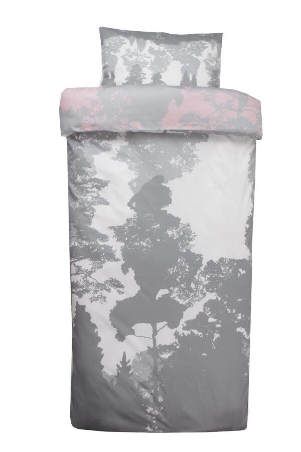 Voodipesukomplekt Luiged roosas